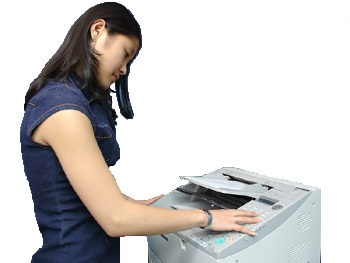 Women using a Kyocera printer. Wisconsin Copy & Business Equipment provides business equipment from the following manufactures Kyocera Document Solutions, Gestetner, NEC, MBM, Standard Duplicating, Mita Copystar, FP Mailing Systems, Riso.